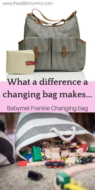 Changing Bag - BabyMel Frankie #babymel #changingbag #babychange