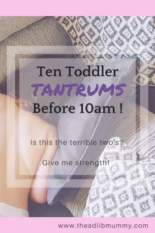 Ten Toddler Tantrums before 10am - Is this the terrible two's? Give me strength