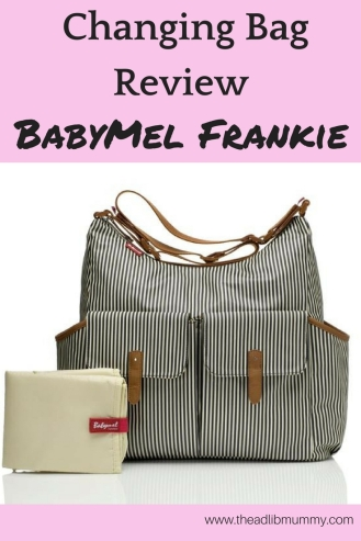 Changing Bag Review - BabyMel Frankie #babymel #changingbag #babychange