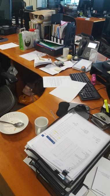 my desk, messy, mess, working, office, working mum