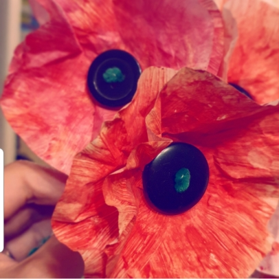 Poppy day, cupcake crafts, crafts, poppy, remembrance