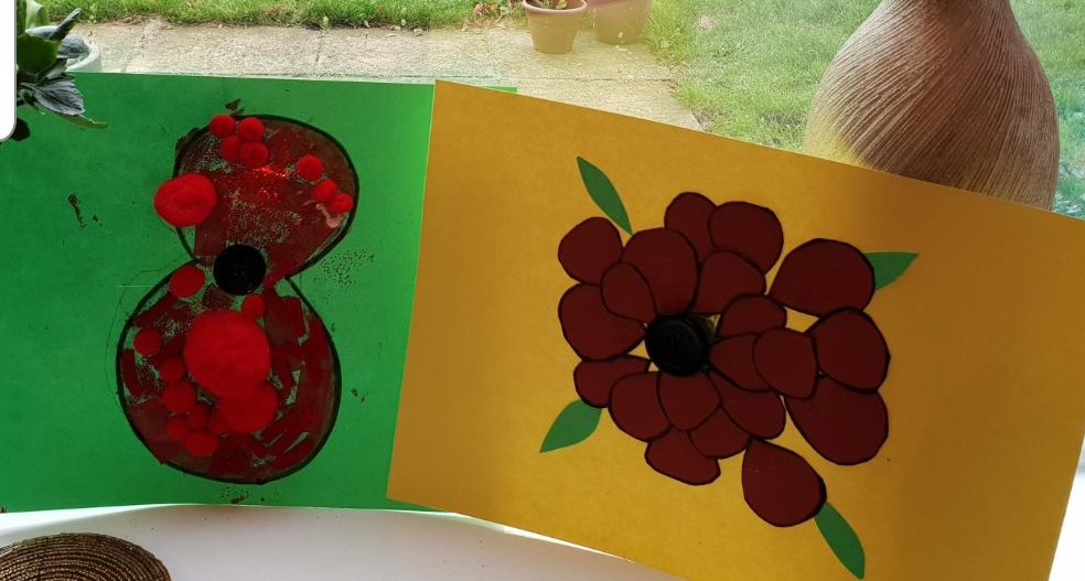 Remembrance Day Crafts, Paperr crafts, poppy day